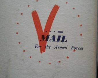 vintage world war 2 V...Mail letter sheet envelopes  for rush microfilm mail  rare