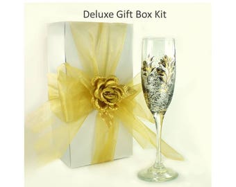 7 Wedding Party Gift Box Kits with Box + Ribbon + Satin Rose - Bridesmaids Gift Boxes -  Stocking Stuffer Gift Boxes