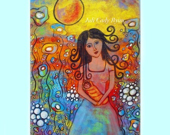 Magic of Motherhood Mother's Day Card, Original Art 5 x 7