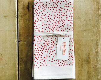 Berry Polka Dot Napkins, Set of 2 - READY TO SHIP