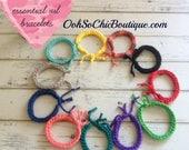 Adjustable Diffuser Bracelets, Fun summer colors, Aromatherapy Bracelet, Essential Oil Bracelet, Summer Bracelets, Buy 4, Get 1 FREE