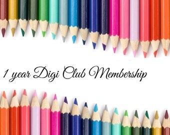 1 year Digi Club Membership ***No coupons allowed on this listing***