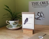 Custom owl bookplates, 2 sets