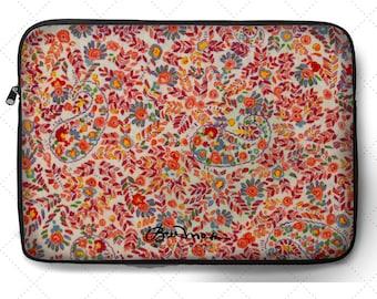 """Retro Paisley Laptop Sleeve: 12"""", 13"""", 15"""""""