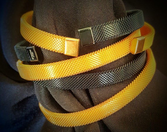 Mesh Bracelet Black or Gold