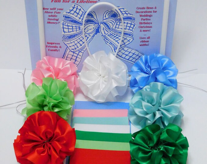 Satin Fabric Pieces non-fray edge Charles Clay Natures Choice BioDegradable made in England 6 pc set for pom poms, gift tag packaging crafts