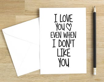 Anniversary Card for Him. Valentines Day Card. Funny Valentine Card. NB011