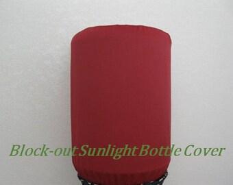 Ruby Red-Block-out sun light Bottle Cover-Bottle-5 gallon Water Bottle Cover-Dispenser Cooler Decor