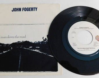 "John Fogerty The old man down the road & Big Train - Vintage Vinyl Record 45rpm 7"" single"