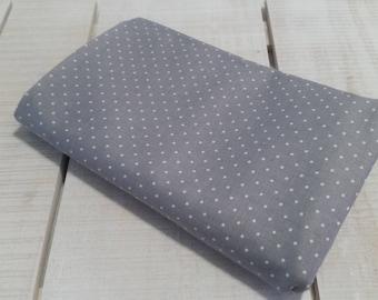 Grey pin dots cotton fabric #25