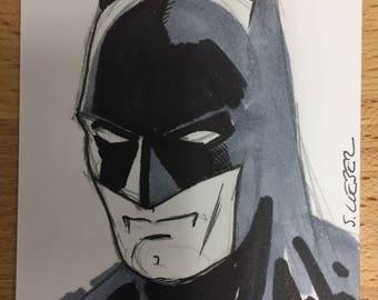Original art: Batman sketchcard by Steve Lieber