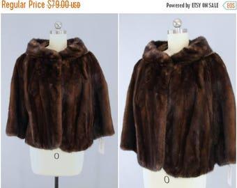 FLASH SALE - 1950s Fur Coat / Chocolate Brown / Winter Wedding / Mid-Century Mad Men