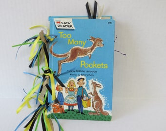 Too Many Pockets Book, Altered Children's Book, Altered Album, Handmade Album, Kangaroo Book.
