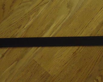"Men's 36"" Black Belt with decorative edging and no buckle"