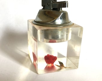 Mid Century Lucite Table Lighter
