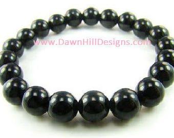Black Obsidian Bracelet Yoga Bracelet Mala Bracelet Reiki Bracelet Obsidian Crystal Healing Bracelet Energy Bracelet Gemstone Bracelet
