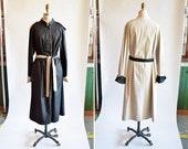 Vintage 1980s REVERSABLE trench coat