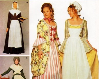 SZ 14/16/18/20 - Simplicity Costume Pattern 9746 by ANDREA SCHEWE - Misses' Puritan, Pilgrim and Colonial Costumes - Simplicity Patterns