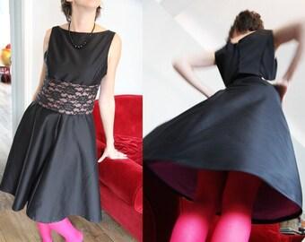 """RETRO black dress """"Suzanne"""""""