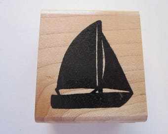 rubber stamp - SAILBOAT silhouette