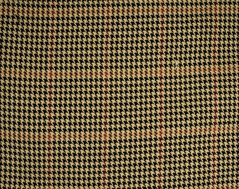 D2909 Pembrook Java Houndstooth Check Plaid Fabric