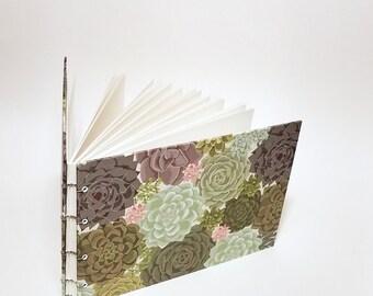 succulents wedding guest book - cactus wedding book - desert wedding guestbook - succulents wedding decor - succulents and cactus guestbook