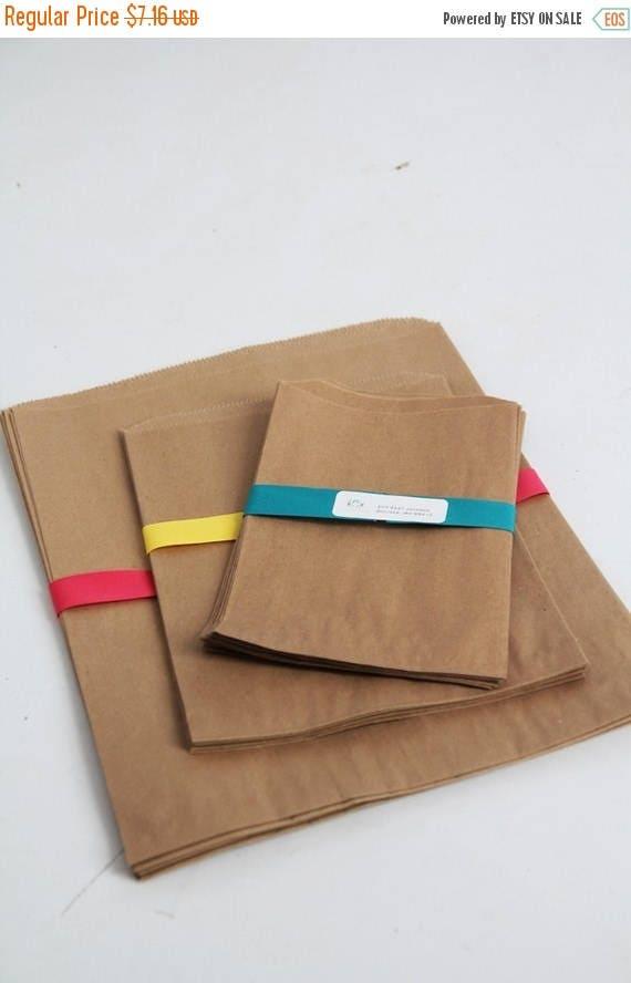 ON SALE Kraft Paper Bag Assortment Pack Lot of 30
