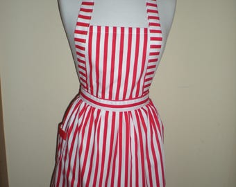 Red and white striped dress australian