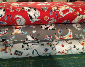 Adopt Me Take Me Home Rescue Me I Spy Dog Fabric By the Fat Quarter