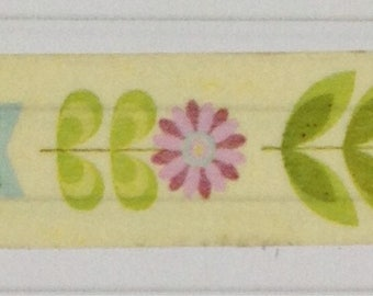 Yellow floral washi tape - arts and crafts, mixed media,