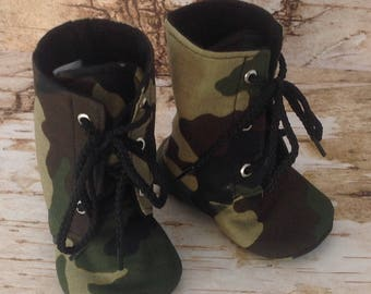 Camo Baby Combat Boots | Newborn size up to 3T | FREE Shipping in the US