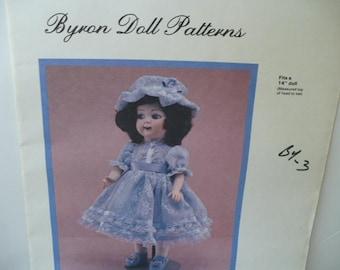 Doll Pattern DIY Sewing, Pattern Gift Doll Clothes, Byron Sherri Doll Pattern, Doll Dress Pattern, DIY, 14 Inch Doll, PioneerFundraiser