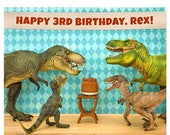 30% OFF SALE Customizable Personalized Birthday Print: Dinosaur Decor Edition
