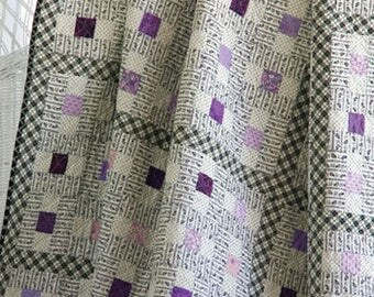 "Vintage Violets quilt pattern - Kay M. Capps Cross for Cross Cuts - 92"" x 92"""