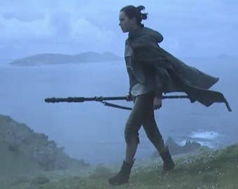 Rey In Training -The Last Jedi - Complete - Knit Top - Capris - Arm Wraps - Double Leather Belt - Cape - Perfect!