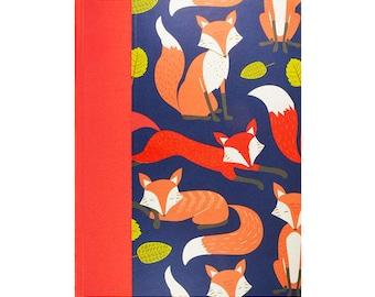 Baby  Keepsake Memory Book Red Foxes