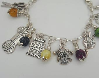 Colourful Craft Lover Charm Bracelet