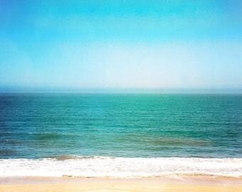 Infinite, Fine art photography, digital artwork, beach art, large art, Abstract Beach Art, Sunny Day, blue wall art, fine art photo