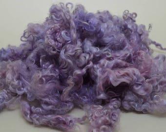 Kid Mohair Locks - 2 ounces Lavender / Pink