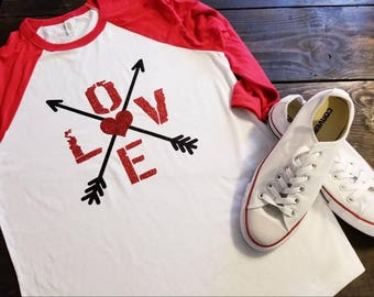 Love Valentines Day Shirt, Womens Valentines Day Shirt, Valentine's shirt, Love Shirt, Love and arrows shirt, Valentine's Day Gift,