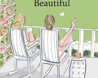 Friendship Makes Life More Beautiful- SUMMER - Art for Women - Quotes for Women  - Art for Women - Inspirational Art