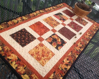 Autumn Charmer 19x36 quilted tablerunner