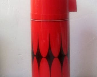 Vintage red Aladdin vanguard Thermos bottle never used