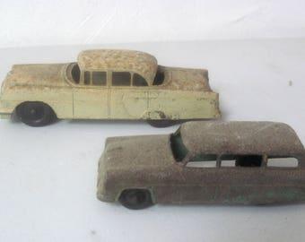 Two vintage Tootsie Toy metal Cars
