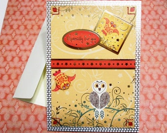 Handmade Fall Card - Thoughts of Autumn Owls ESPECIALLY FOR YOU