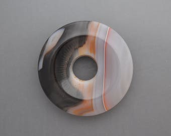 Natural Agate Donut Bead