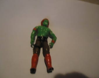 Vintage 1988 Green Blanka Toy Action Figure by Hasbro, collectable