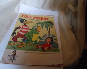 """Vintage 1959 Poll Parrot in """"Dolly Folly""""Poll Parrot Shoes Comic Book, collectable"""