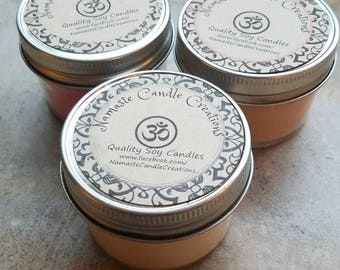 SOY Candle, double scented,    slow burning, clean burning, phthalate-free, eco-friendly, hand poured, jar candle