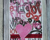 Handcrafted LOVE greeting card--CB81217-4